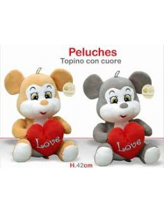 PELUCHE TOPINO CUORE 42CM 25641582